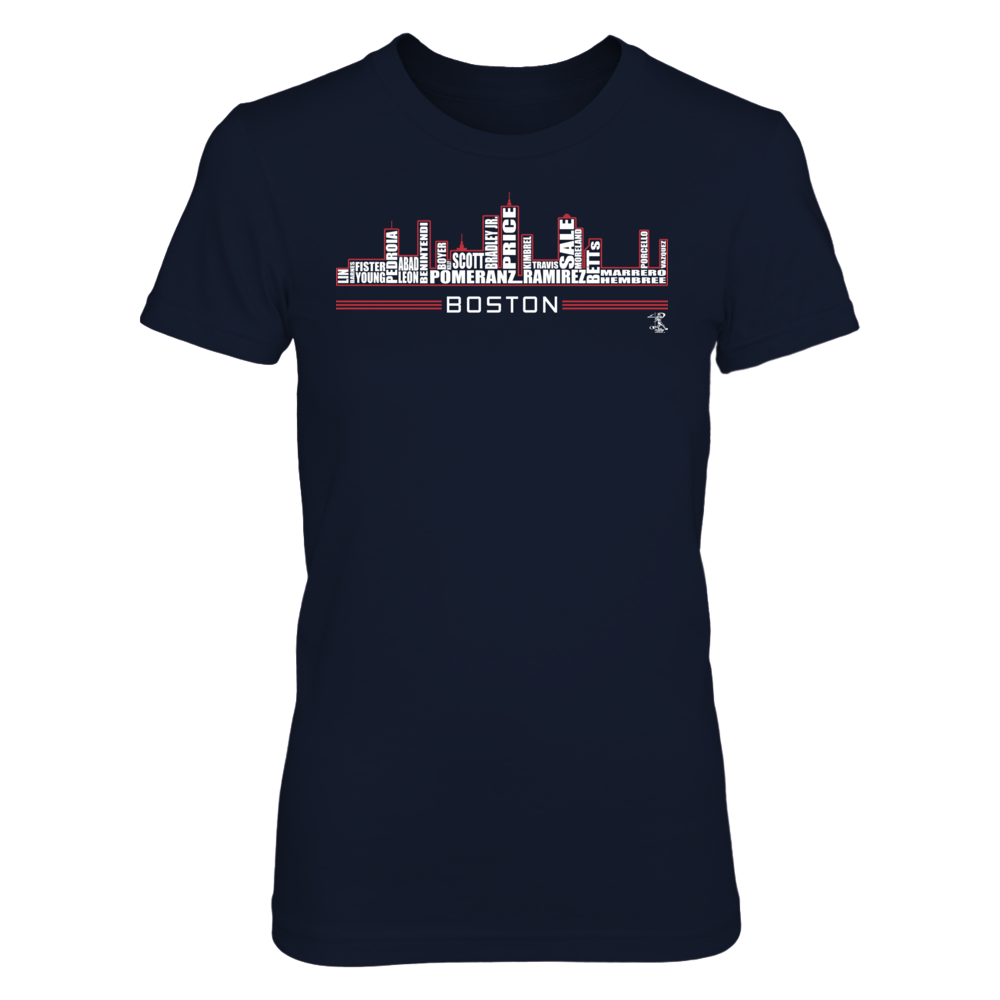 Dustin Pedroia - Boston Skyline Front picture