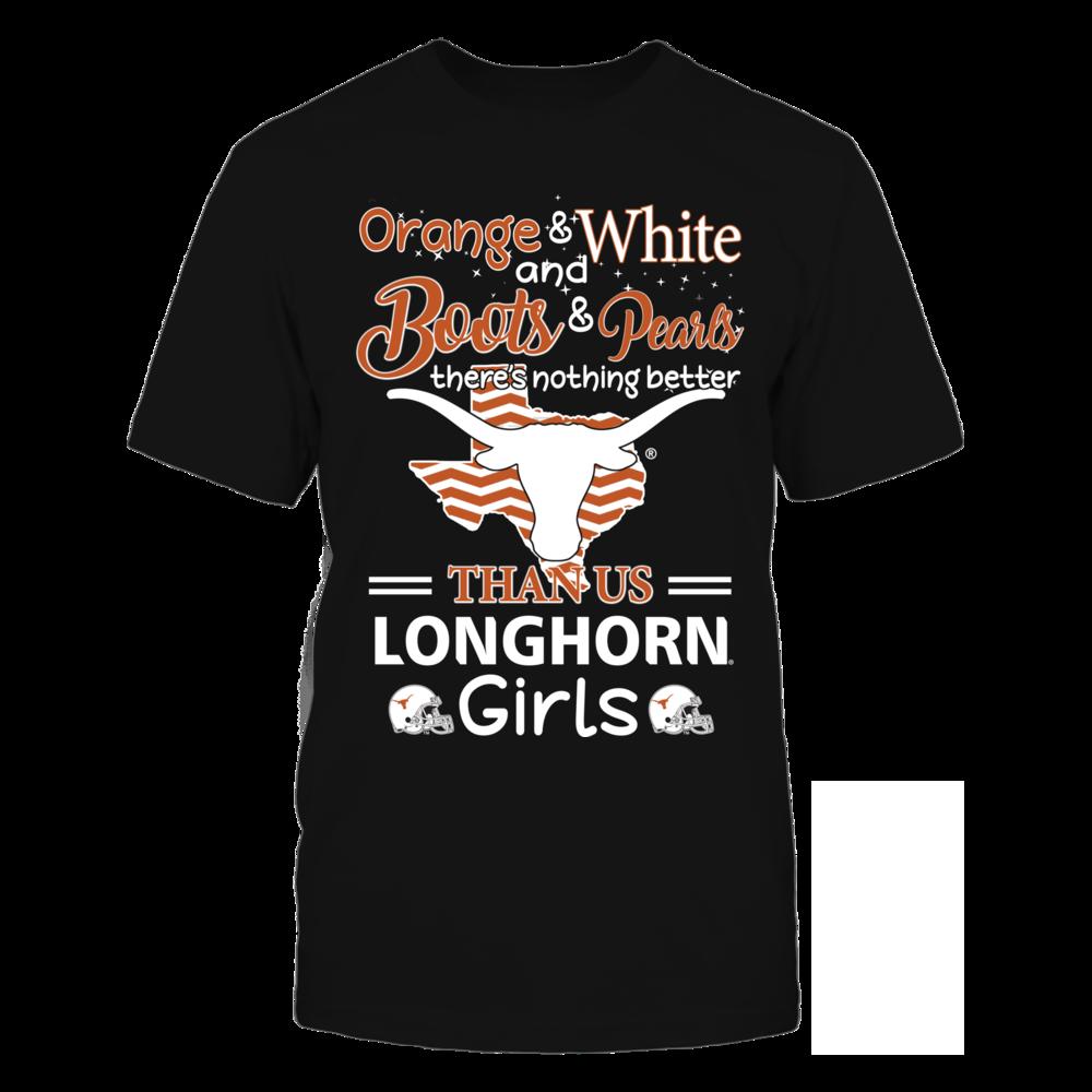 Orange & White - Longhorn Girls Front picture
