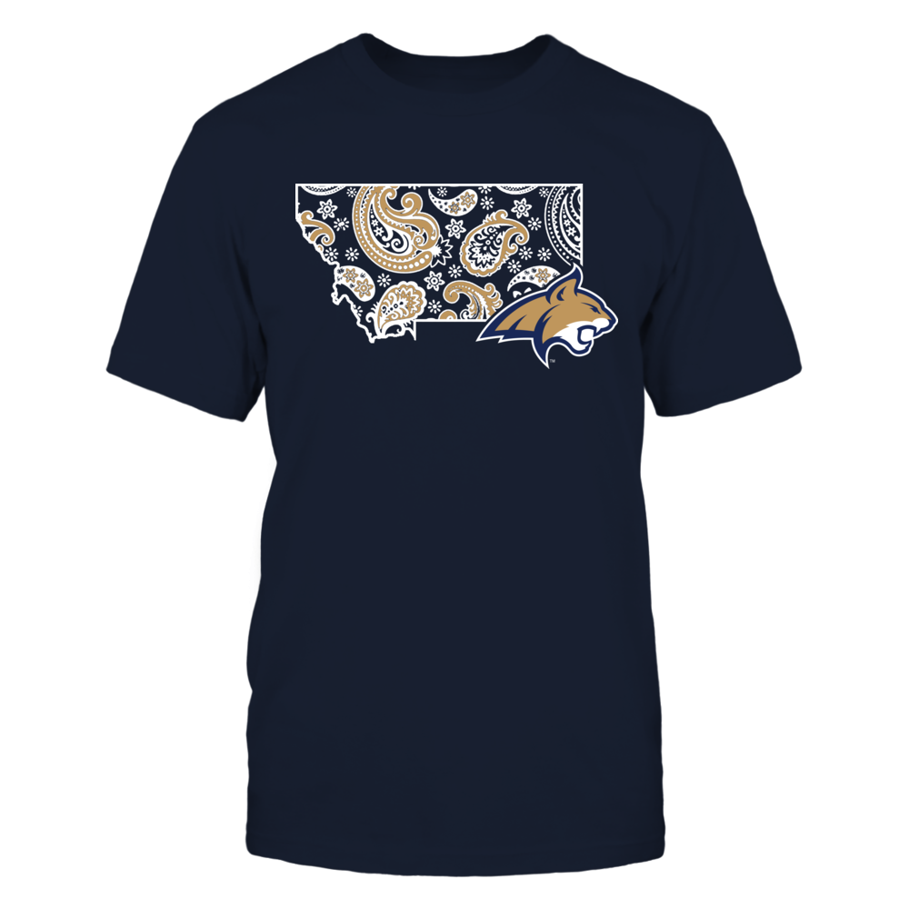 Montana State Bobcats - State map pattern Front picture