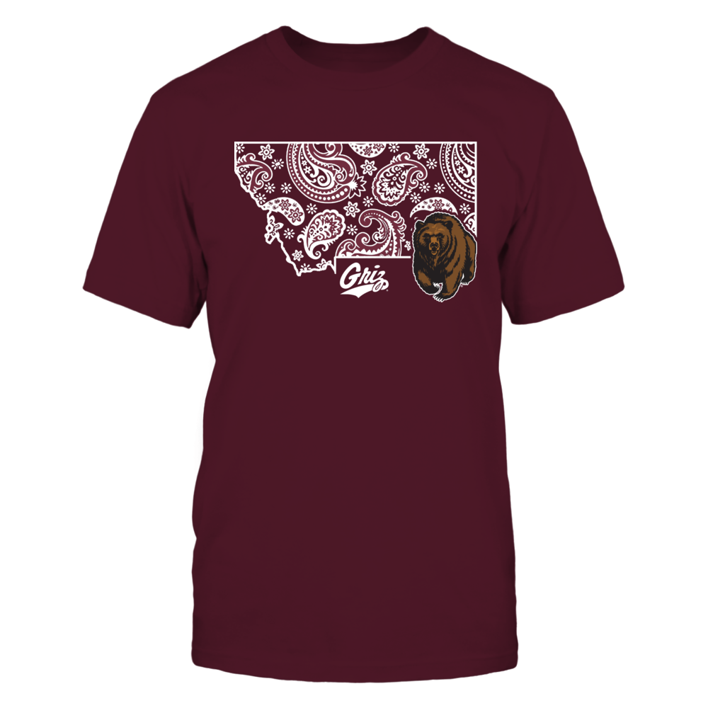 Montana Grizzlies - State map pattern Front picture