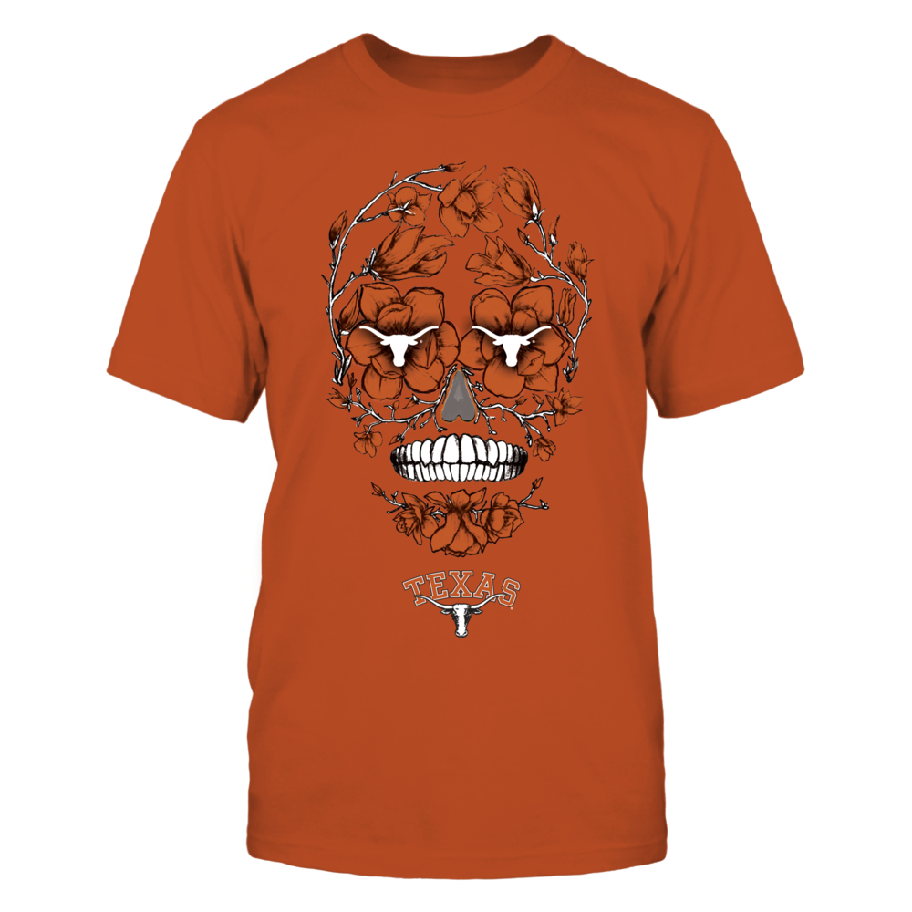 Texas Longhorns - Flower skull Front picture