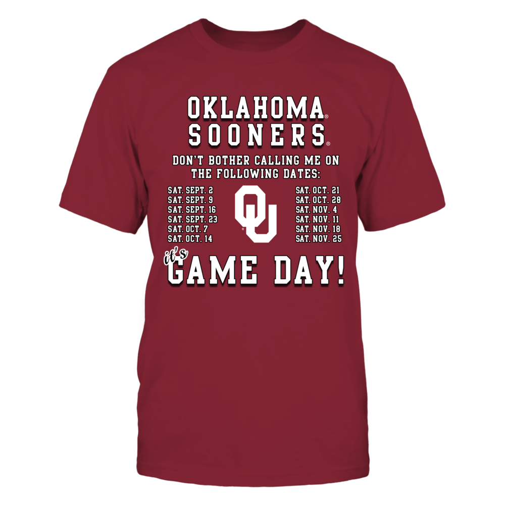 Oklahoma Sooners, Game Day Schedule Front picture