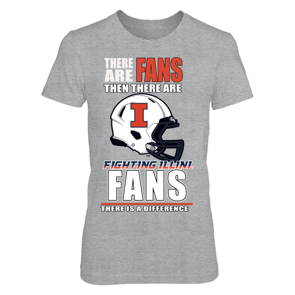 Illinois Fighting Illini Fighting Ilini Football Fans - There is a Difference FanPrint
