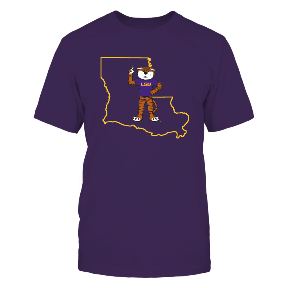Mike The Tiger In State Outline - LSU Tigers Front picture