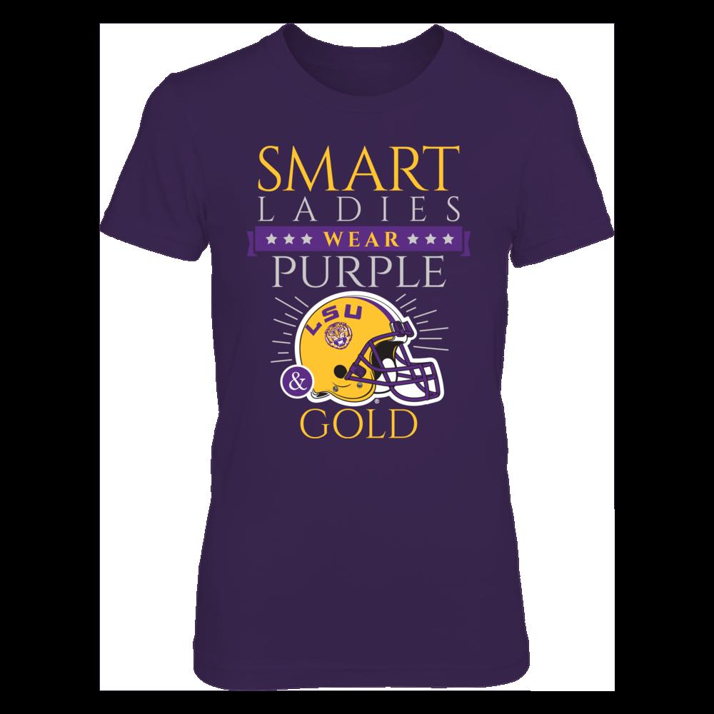 LSU Tigers Smart Ladies Wear Purple & Gold FanPrint