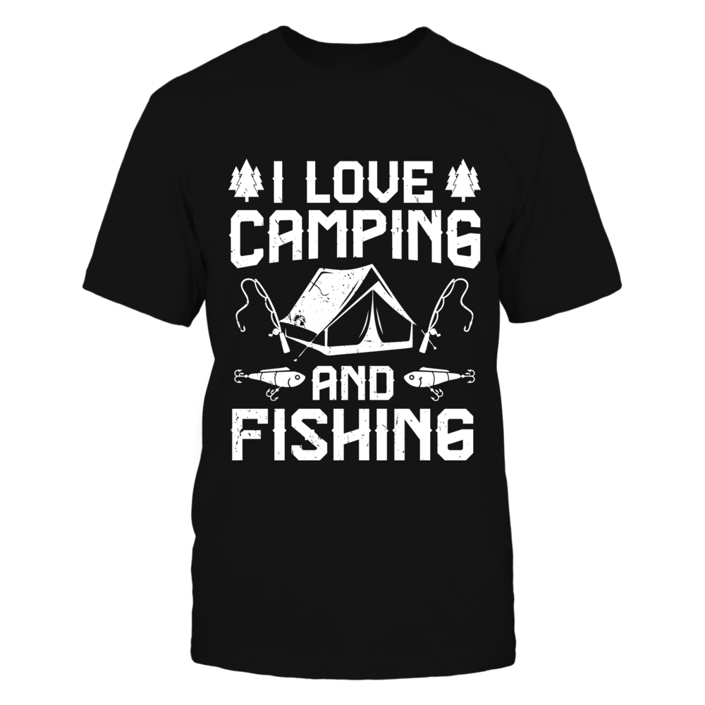TShirt Hoodie I Love Camping And Fishing FanPrint