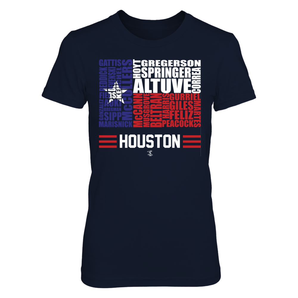Jose Altuve Jose Altuve - Texas State Flag Roster FanPrint