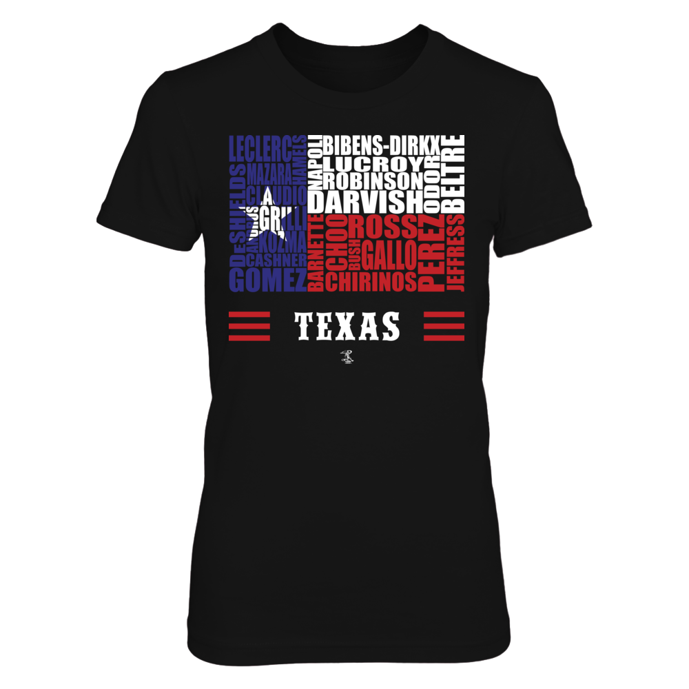 Yu Darvish Yu Darvish - Texas State Flag Roster FanPrint