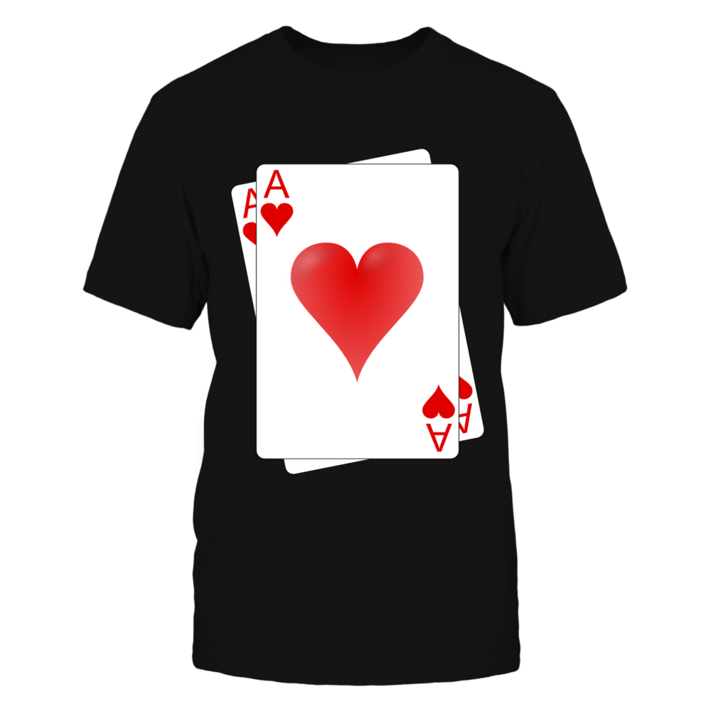 Ace Of Heart Poker Tshirt Front picture
