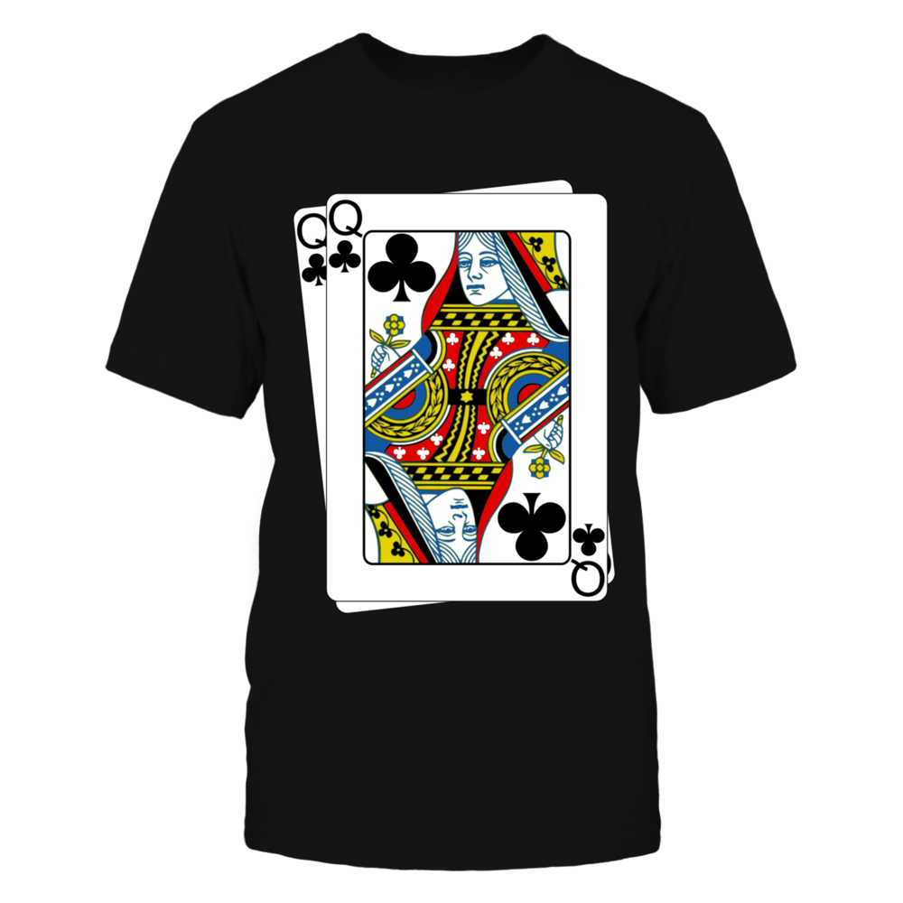 Queen Of Club Poker Tshirt Front picture