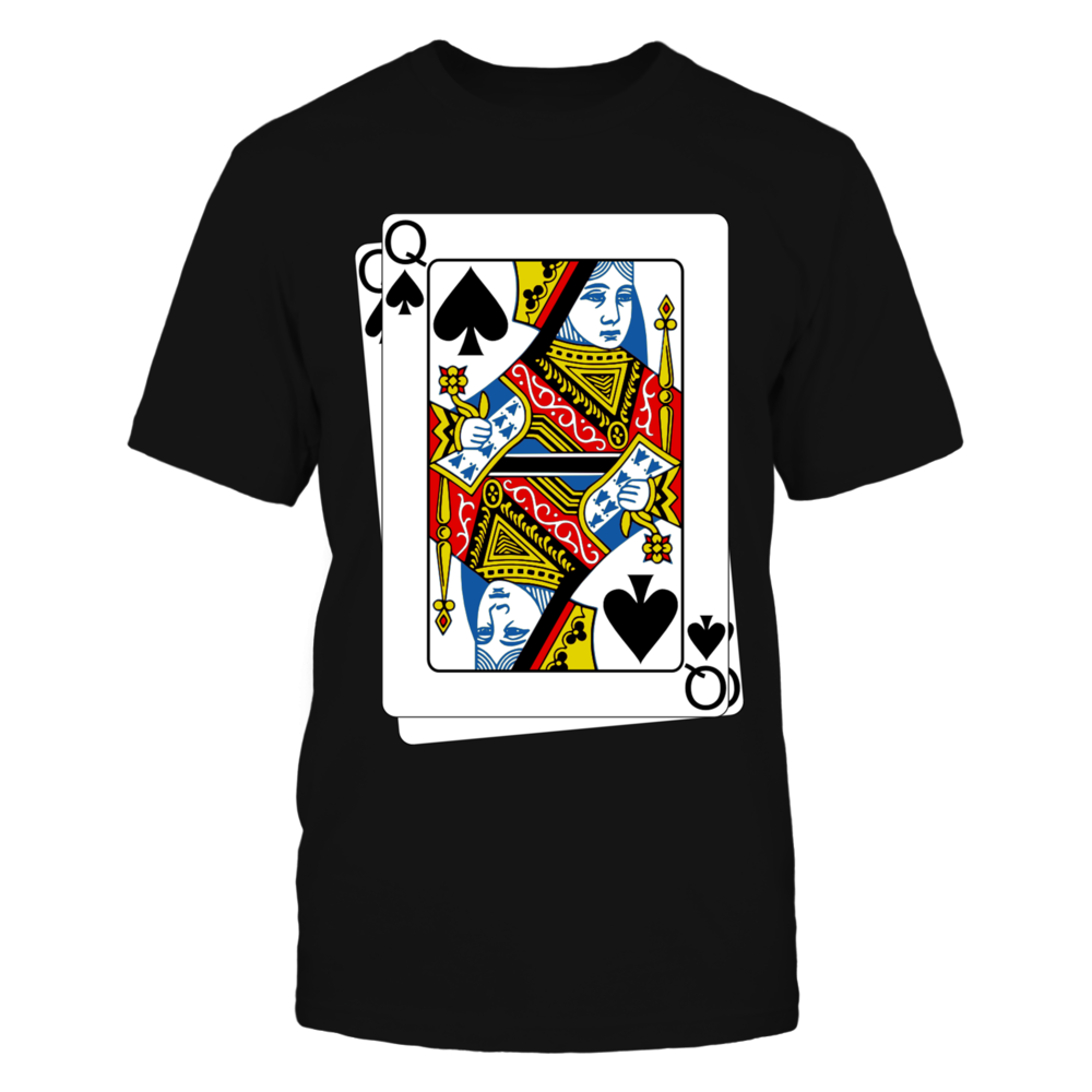 Queen Of Spade Poker Tshirt Front picture