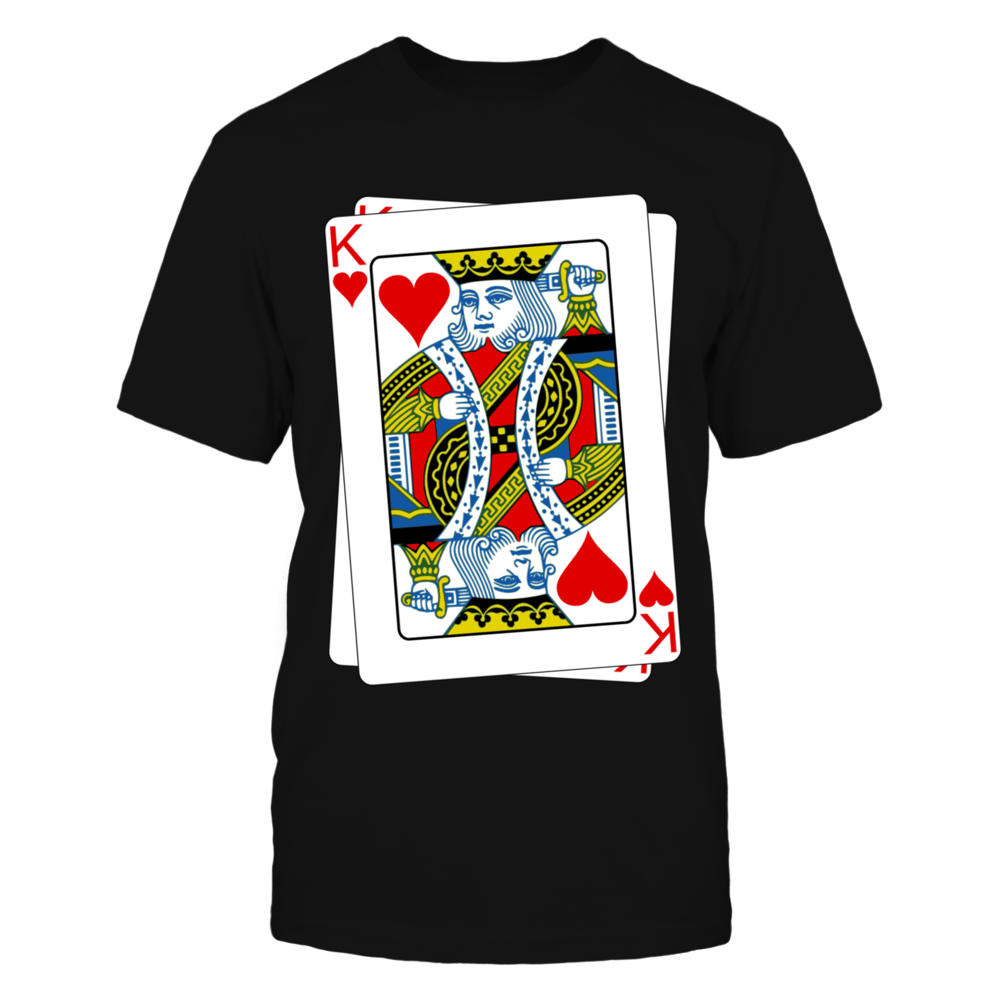 King Of Heart Poker Tshirt Front picture