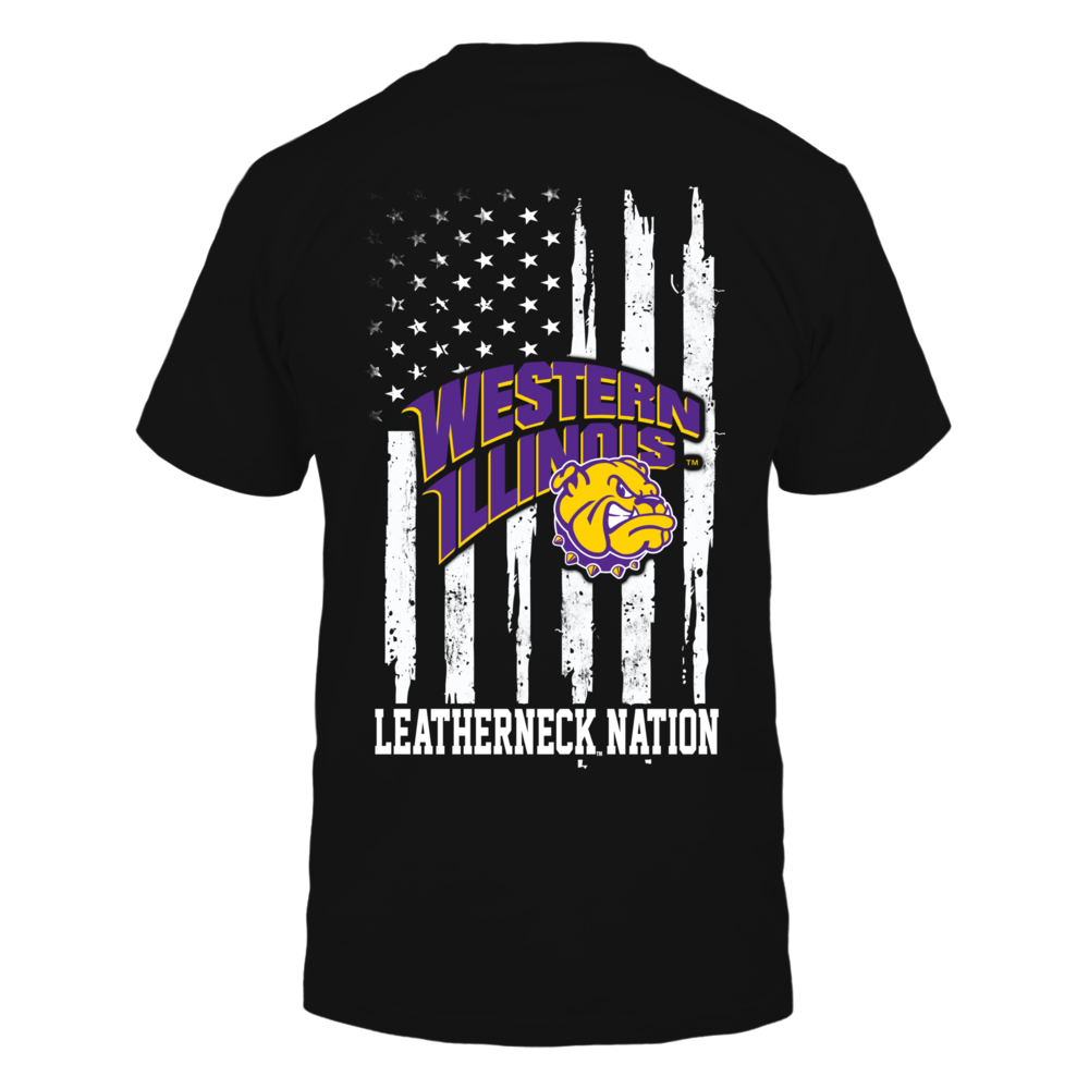 Western Illinois Leatherneck - Nation Flag Back picture