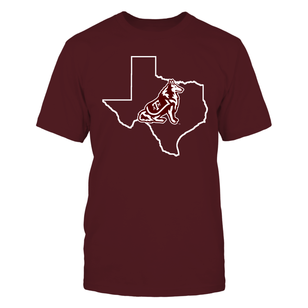 REVEILLE IN STATE OUTLINE - TEXAS A&M AGGIES Front picture