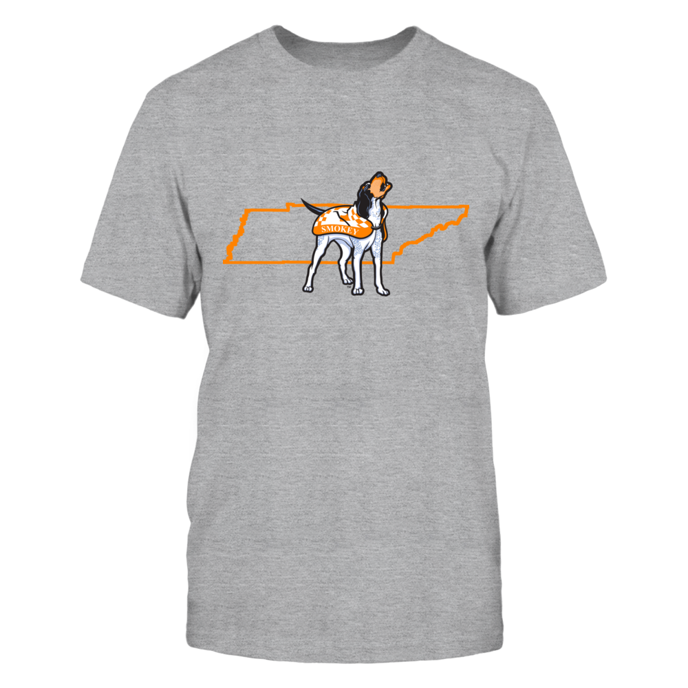 SMOKEY IN STATE OUTLINE - TENNESSEE VOLUNTEERS Front picture
