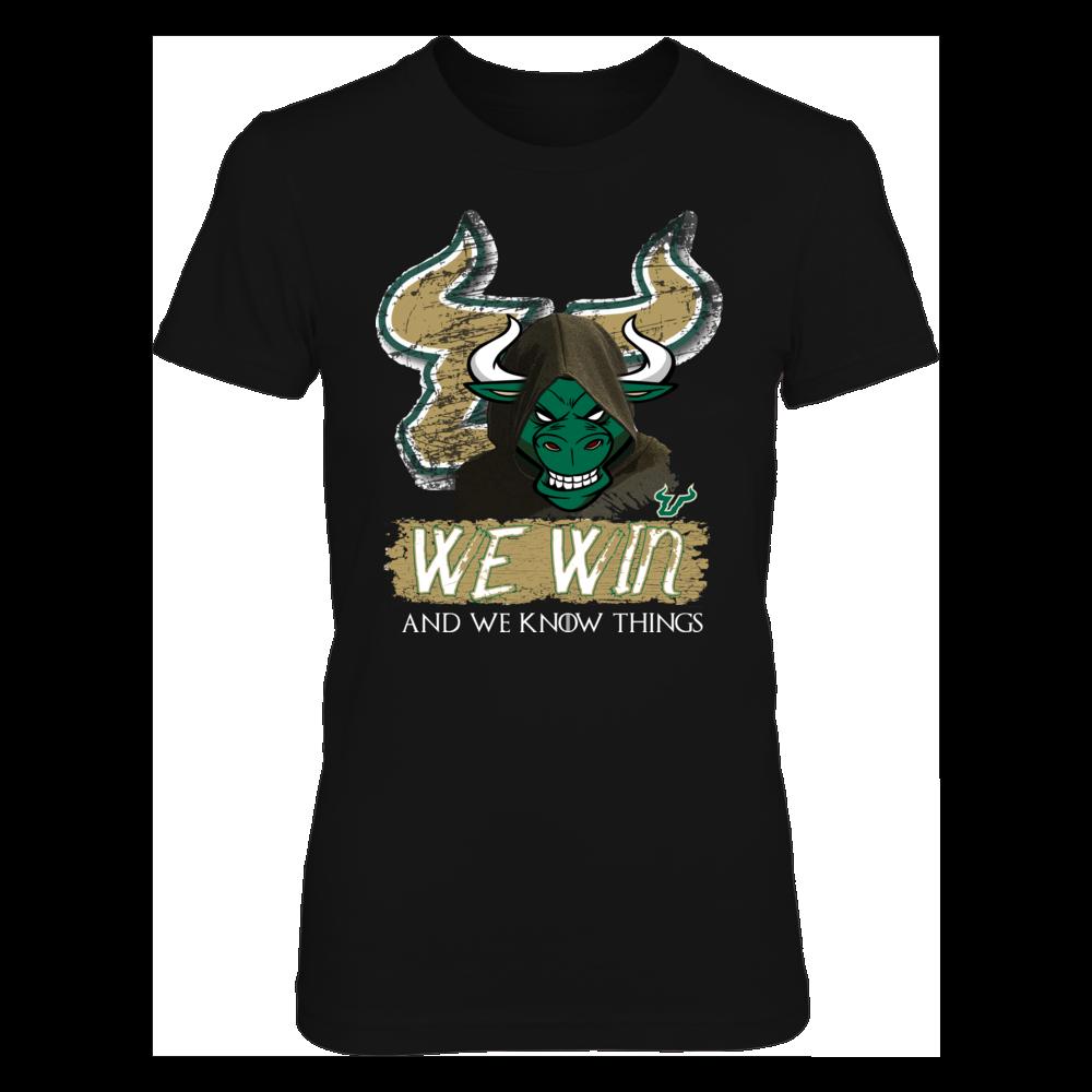 South Florida Bulls South Florida Bulls - USF - We Win and We Know Things T Shirt FanPrint