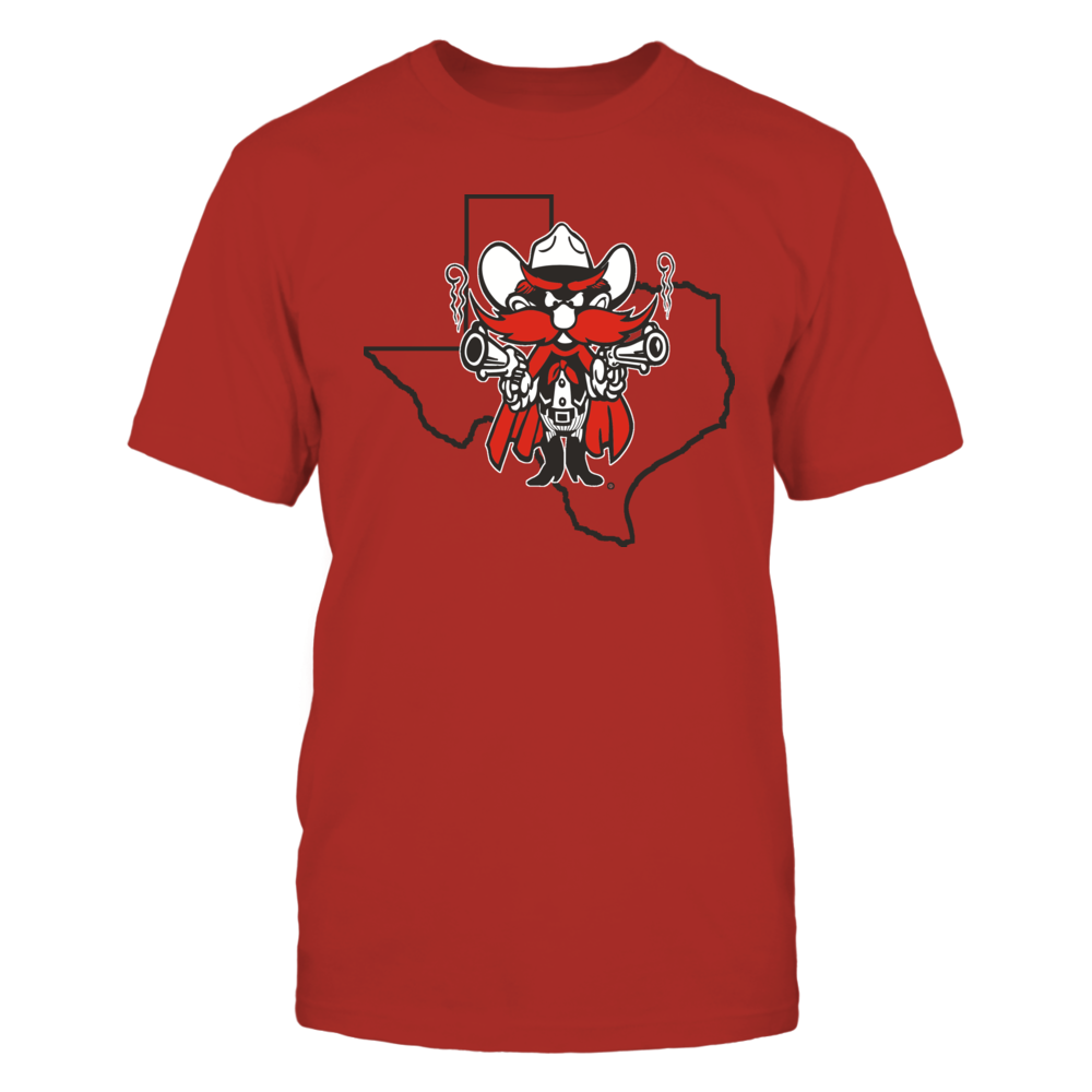 RAIDER RED IN STATE OUTLINE - TEXAS TECH RED RAIDERS Front picture