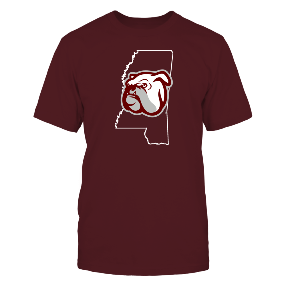BULLY IN STATE OUTLINE - MISSISSIPPI STATE BULLDOGS Front picture