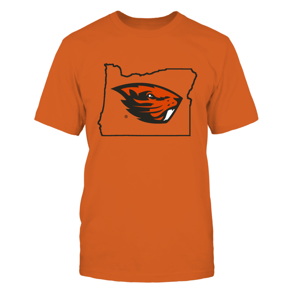 LOGO IN STATE OUTLINE - OREGON STATE BEAVERS Front picture
