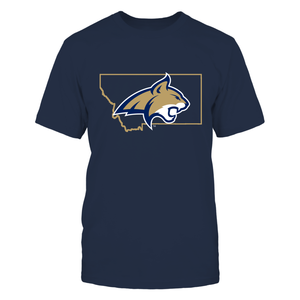 LOGO IN STATE OUTLINE - MONTANA STATE BOBCATS Front picture
