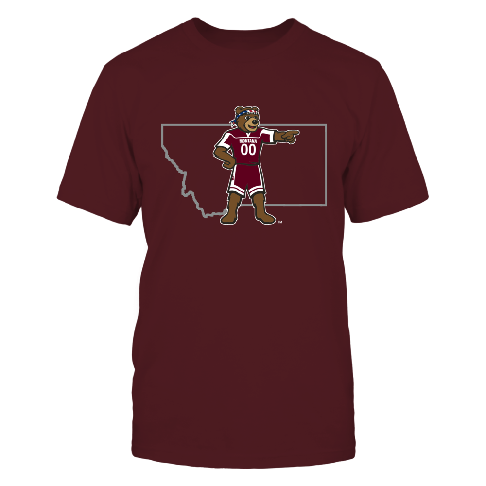 MONTE IN STATE OUTLINE - MONTANA GRIZZLIES Front picture