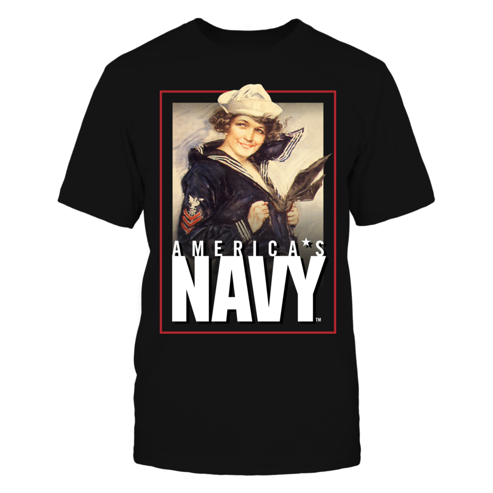 Navy USN Navy Gee Girl WW1 United States Navy WWI Poster Image T-Shirt Tee FanPrint