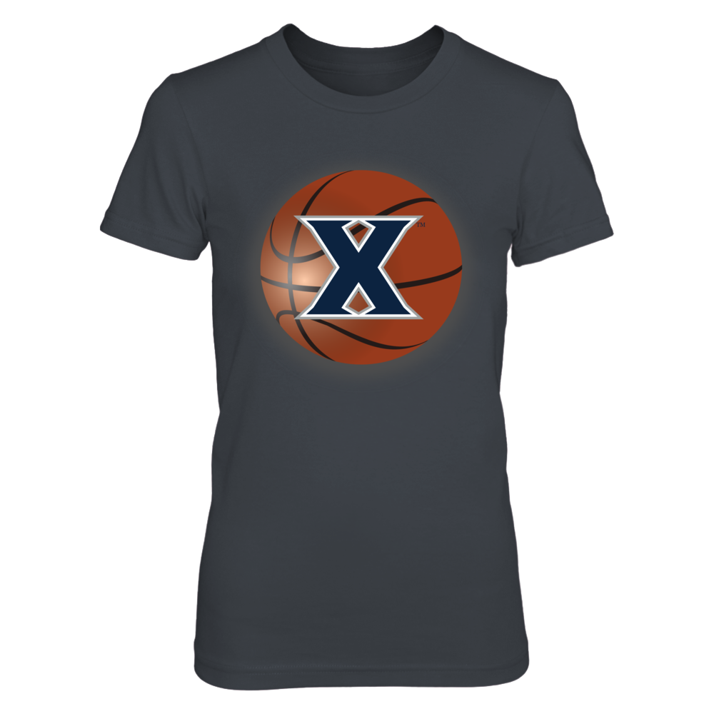 Xavier Basketball behind logo Front picture
