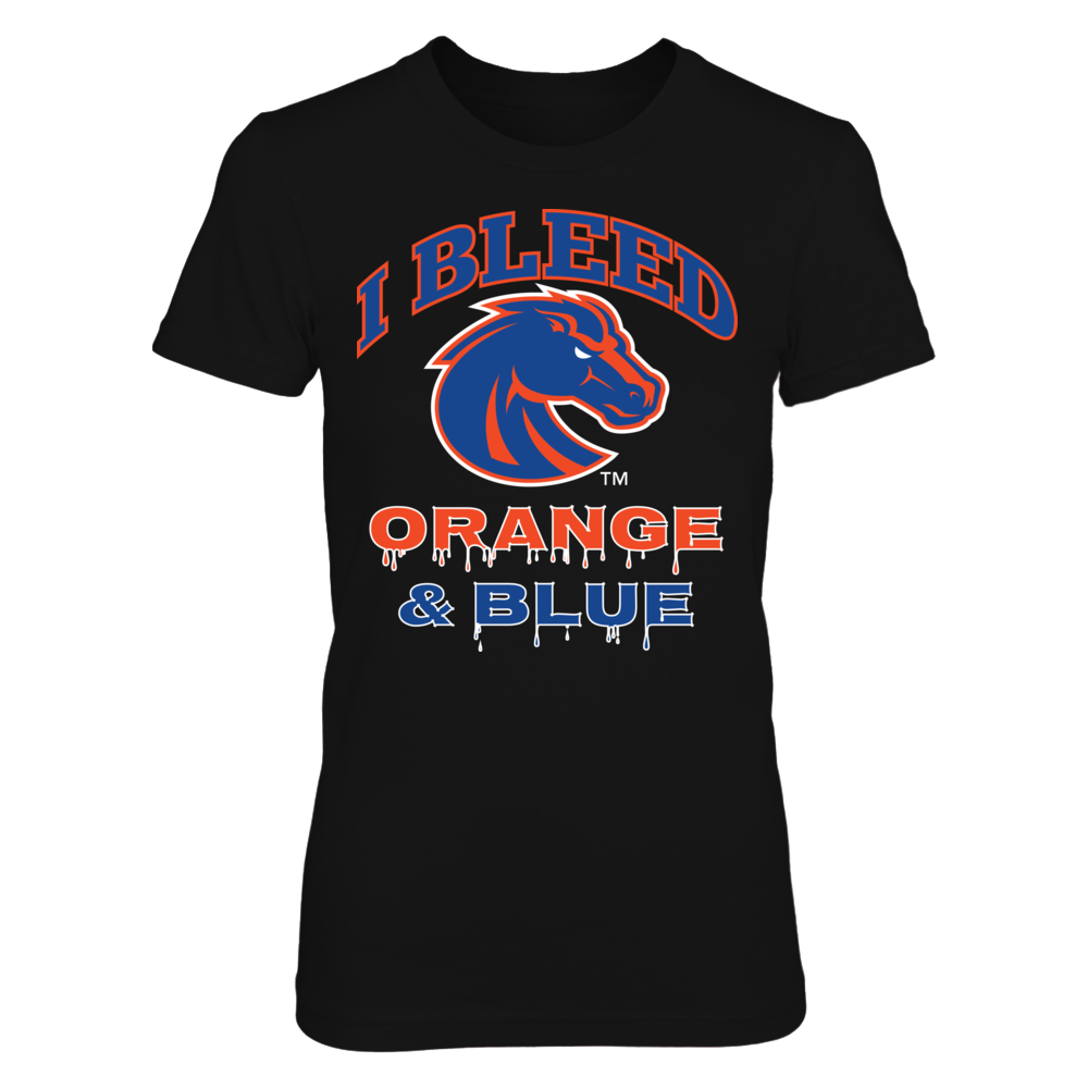 I Bleed Boise State Orange and Blue Front picture
