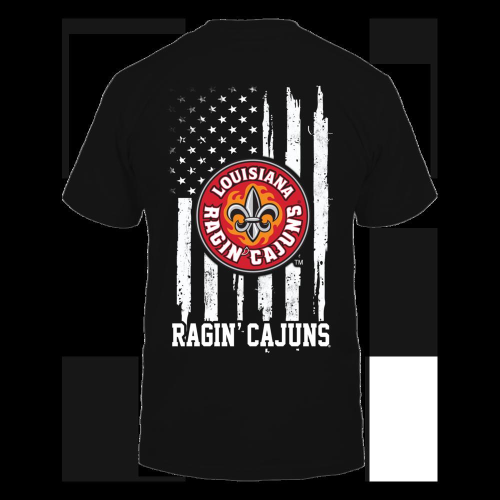 Louisiana - Lafayette Ragin' Cajuns - Nation Flag Back picture