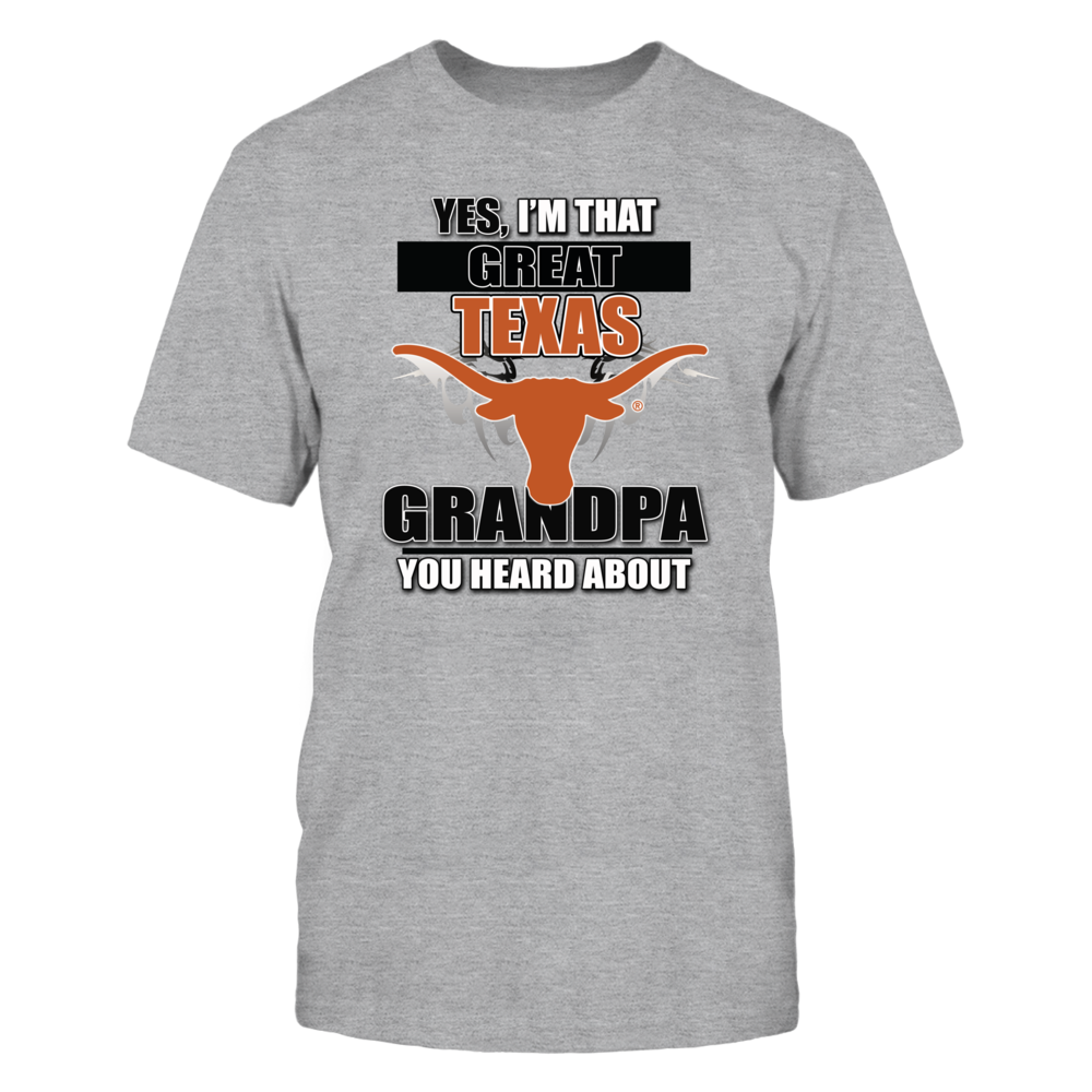 University Texas Longhorns Grandpa Front picture