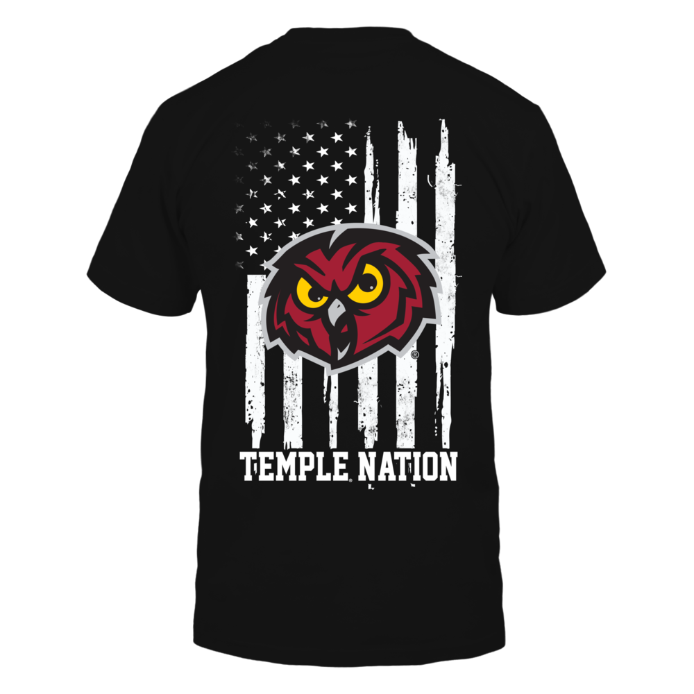Temple Owls - Nation Flag Back picture