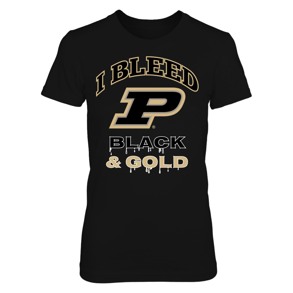 Purdue Boilermakers I Bleed Purdue Black and Gold! FanPrint