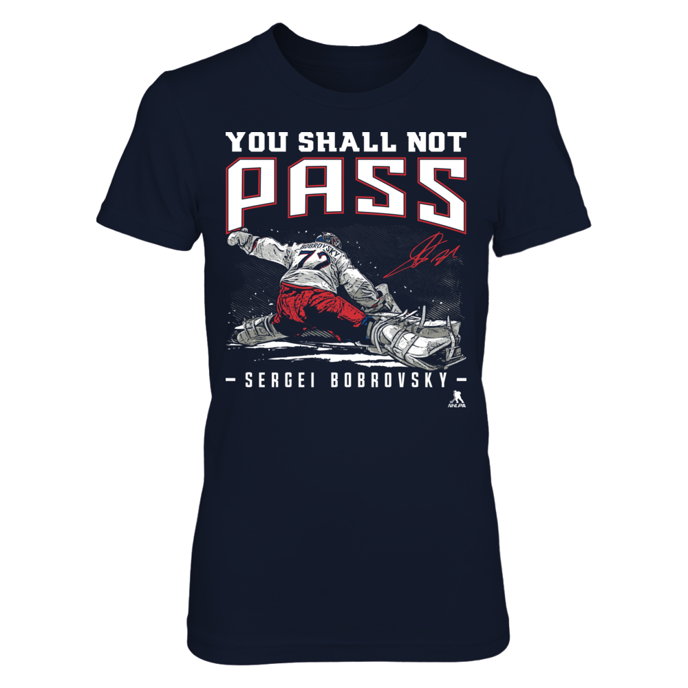 Sergei Bobrovsky - You Shall Not Pass Front picture
