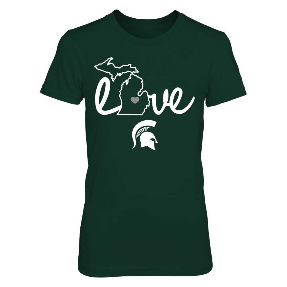 Michigan State Spartans - Love With State Outline Front picture