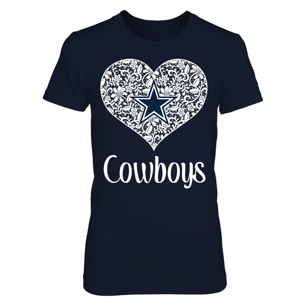 Dallas Cowboys - Lace Heart With Logo Front picture
