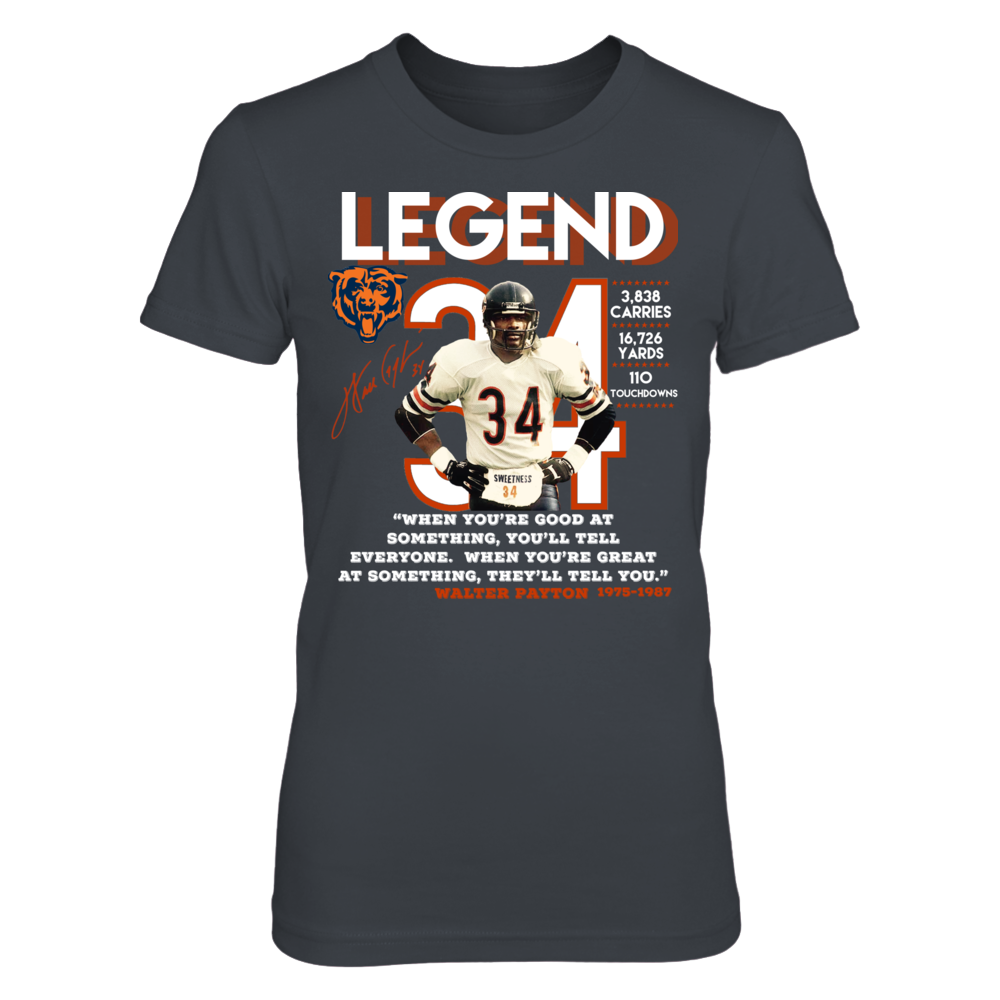 Chicago Bears Walter Payton Legend Front picture
