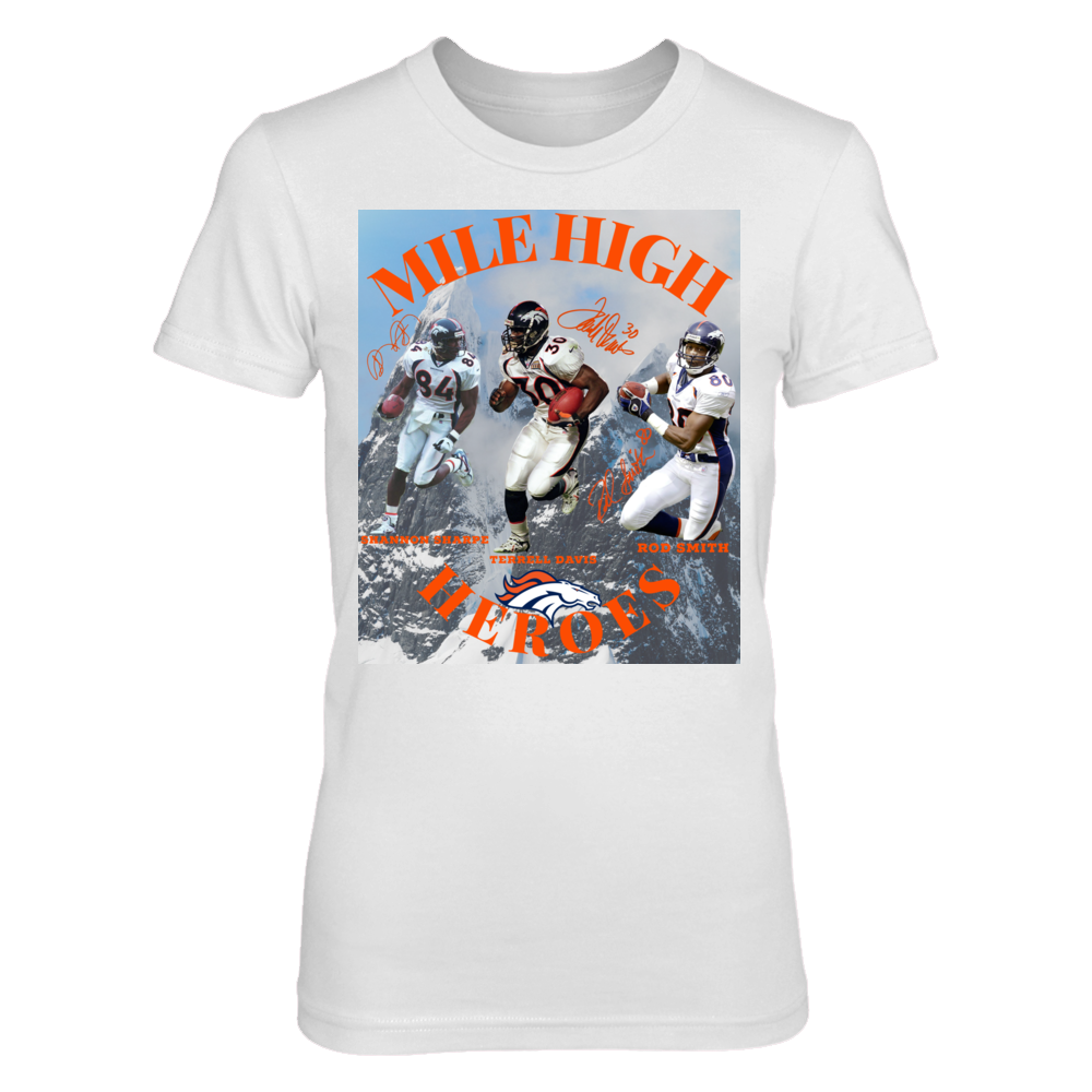 Denver Broncos Denver Broncos Mile High Heroes Sharpe Davis Smith FanPrint
