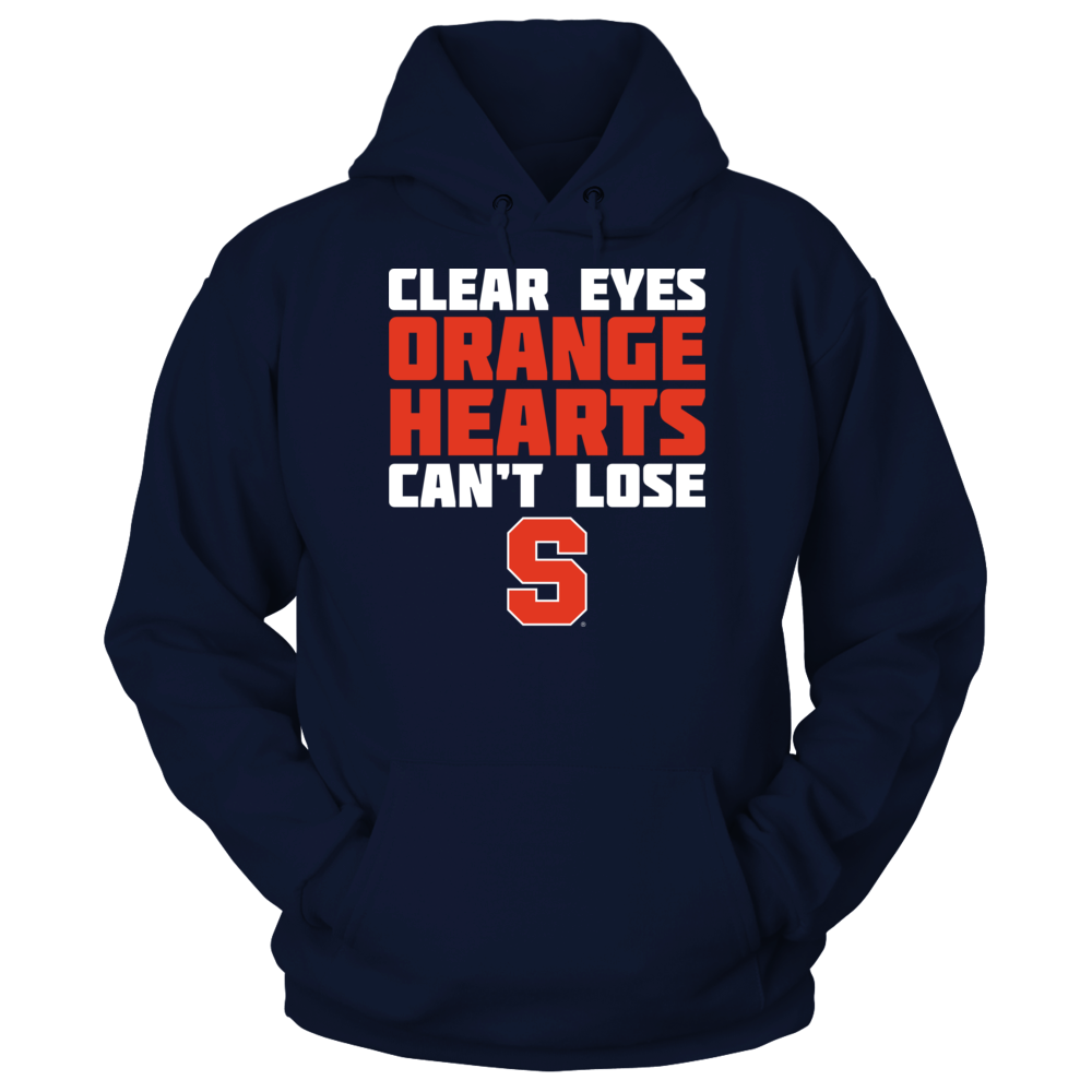 Syracuse Orange - Clear Eyes Orange Hearts Can't Lose Front picture