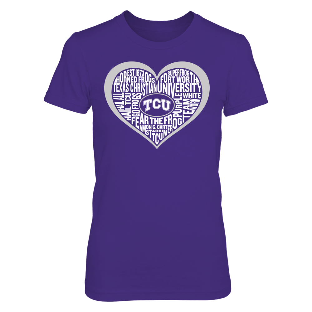 Word Cloud Heart - TCU Horned Frogs Front picture