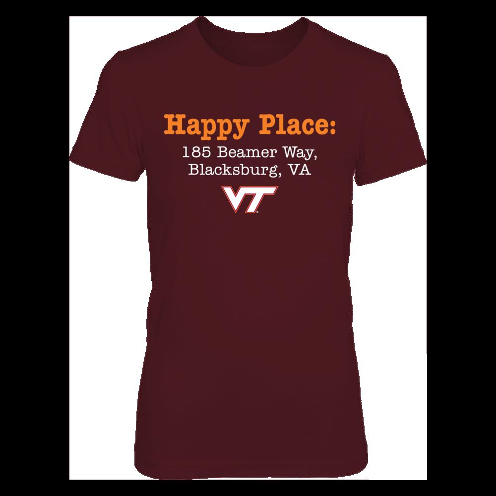 Happy Place: Lane Stadium - Virginia Tech Hokies T-Shirt/Hoodie Front picture