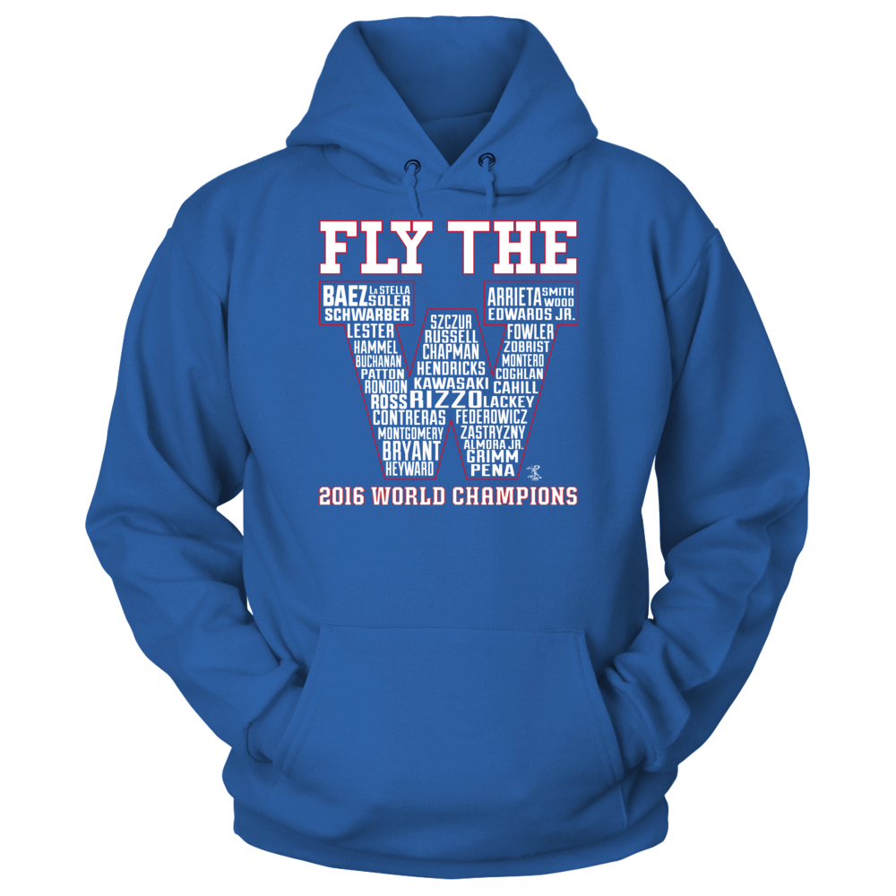 Anthony Rizzo Fly The W Roster (2016 World Champions) - Anthony Rizzo FanPrint