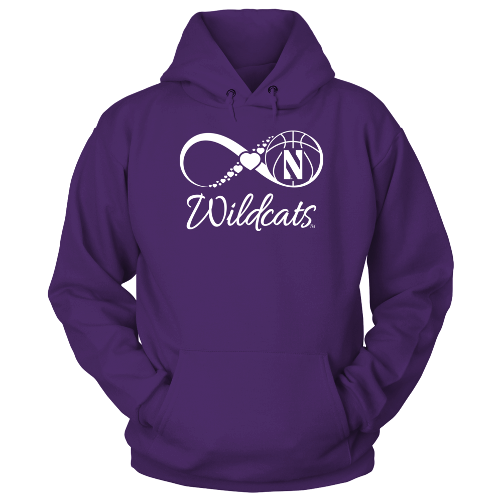 Northwestern Wildcats - Infinite Basketball Heart Front picture