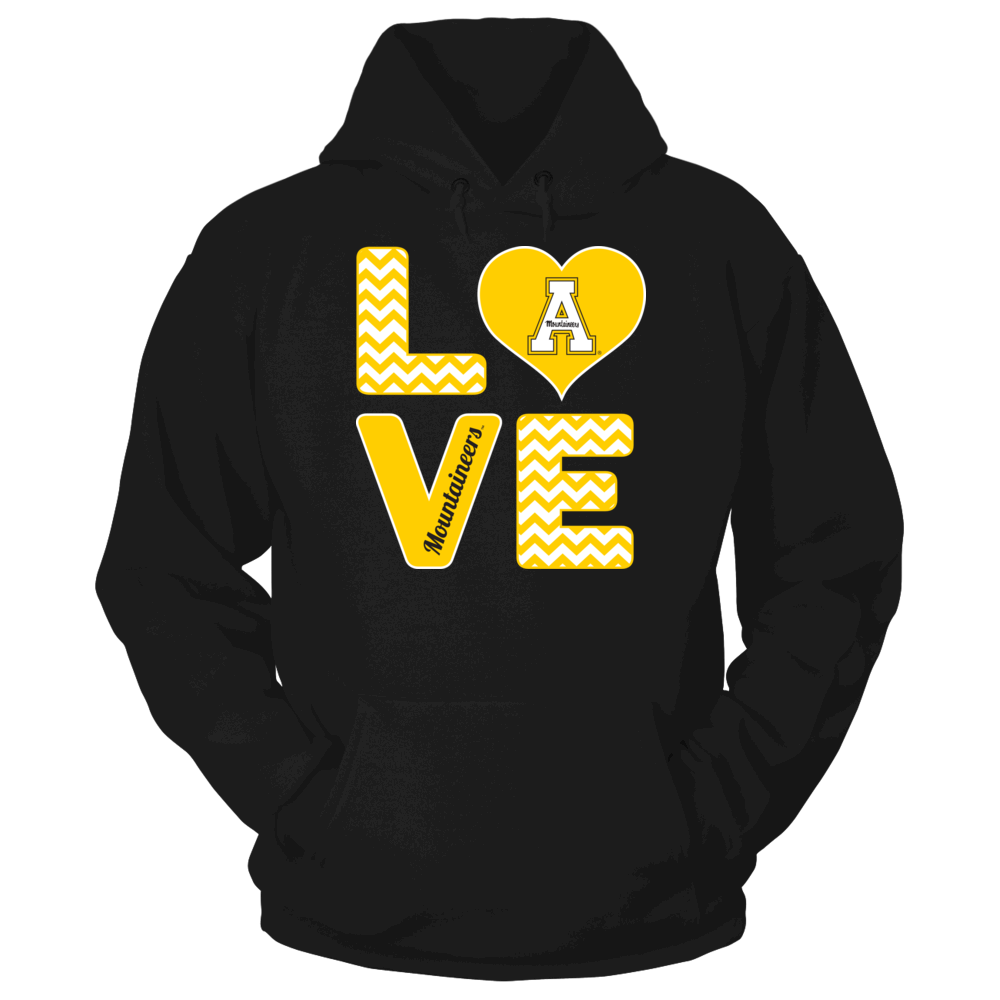 Appalachian State Mountaineers Stacked Love - Appalachian State Mountaineers FanPrint