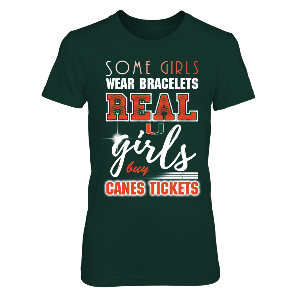 Miami Hurricanes - Real Girls Buy Canes Tickets Front picture