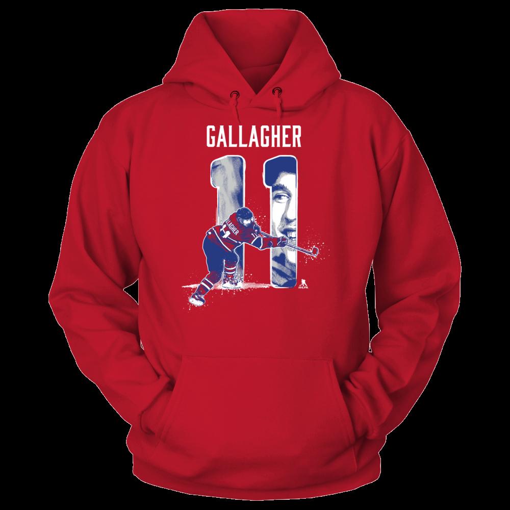 Brendan Gallagher Player Number - Brendan Gallagher FanPrint