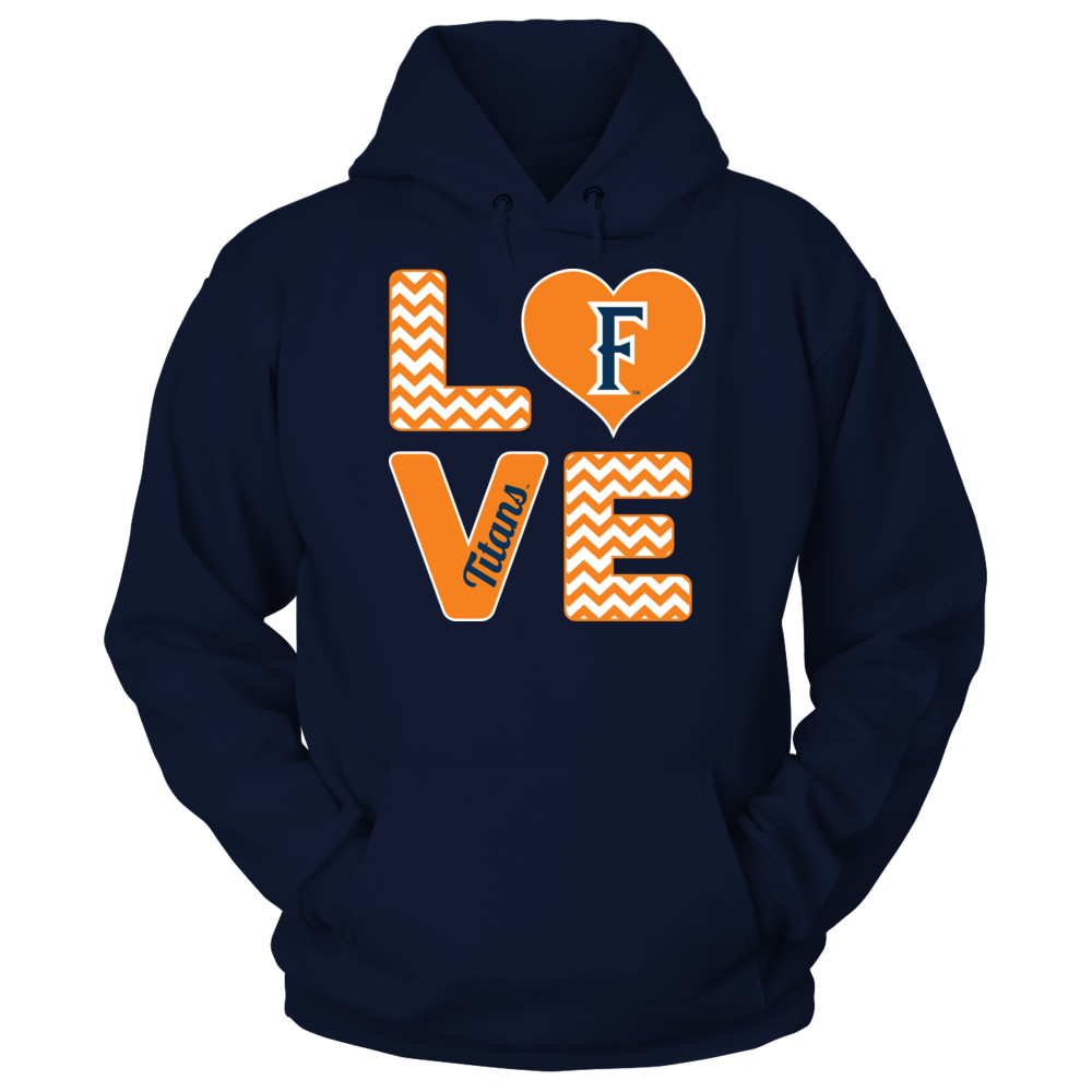 Cal State Fullerton Titans Stacked Love - Cal State Fullerton Titans FanPrint