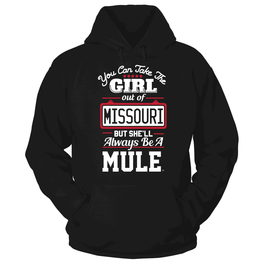 Central Missouri Mules Take The Girl Out But She'll Always Be - Central Missouri Mules FanPrint