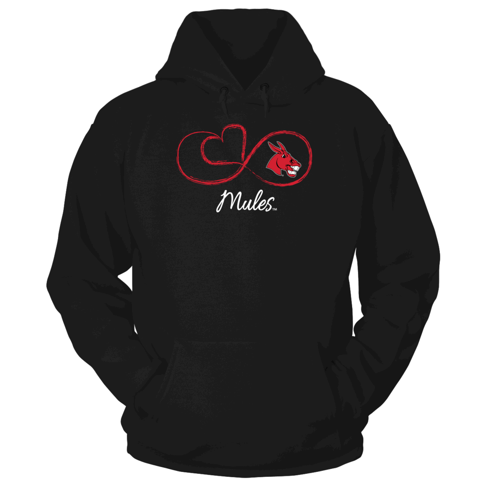 Central Missouri Mules Infinite Heart - Central Missouri Mules FanPrint