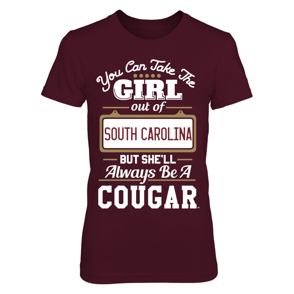 Charleston Cougars Take The Girl Out But She'll Always Be - Charleston Cougars FanPrint