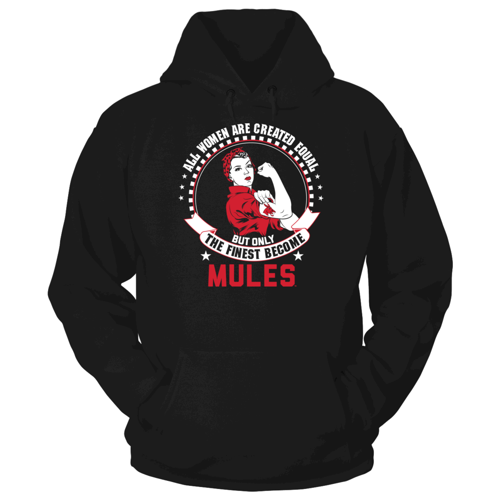 Central Missouri Mules All Women Are Created Equal - Central Missouri Mules FanPrint